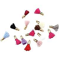 22x Chytaii Tassel Charms Gland Frange Pompon Mini Décoration Pendentive Bricolage DIY pour Sac Bijoux Phone en Cuir Artificiel Multicolore