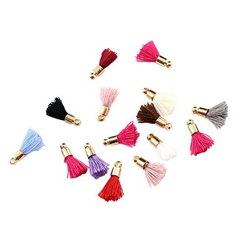 Chytaii Quasten, 22 Stück, Mini-Fransen, Dekoration, Anhänger, DIY, für Taschen, Telefonschmuck, Kunstleder, mehrfarbig
