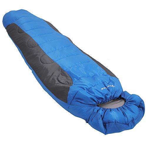 Hüttenschlafsack Winter für Camping Reiseschlafsack Mumienschlafsack in Blau