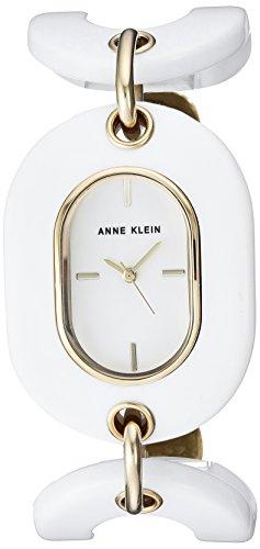 Anne Klein Women's AK-2674WTGB White Resin Japanese Quartz Fashion Watch