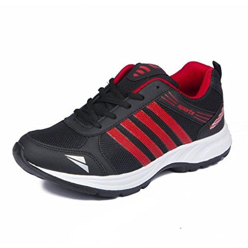 Asian Shoes Wonder 13 Black Red Men's Sports Shoes