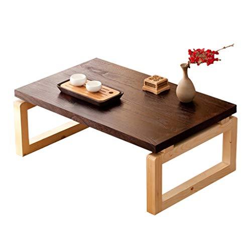 Couchtische Hohe Qualität Massivholz Tisch Einfache Computertisch Klapptisch Tatami Niedrigen Tisch Schreibtisch Japanischen Stil Mehrere Tische (Color : Brown, Size : 80 * 50 * 30cm)
