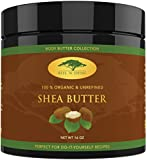 (16 oz) Raw Shea Butter with RECIPE EBOOK - Perfect for All Your DIY Home Recipes Like Soap Making, Lotion, Shampoo, Lip Balm and Hand Cream - Organic Unrefined Ivory Shea for Soft Skin and Hair