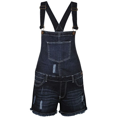 True Face Branded Ladies Stretchable Dungaree Shorts Braces Hot Pants One Piece Women Playsuit Test