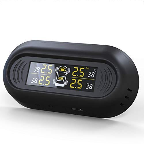ZRK Auto versteckte Reifendruckkontrolle-Universal-Reifenüberwachungsinstrument-Externe Wireless Solar Reifendruckerkennung-Geeignet für sicheres Fahren