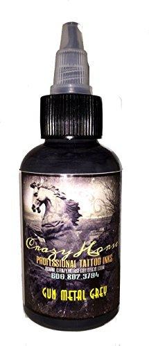 Crazyhorse High Quality Tattoo Ink - Gun Metal Grey by Crazyhorse Color Co (Color Tattoo Metal)