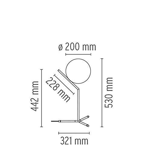 FLOS - Lampada da tavolo Flos IC T1 High - Ottone