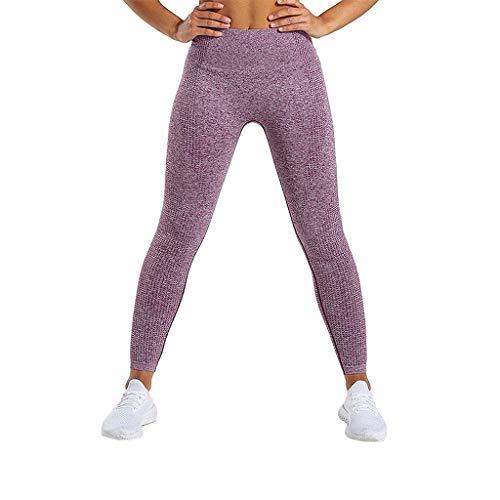 (LInkay Damen Hose, Nahtlos Gestrickt Yoga-Hose Sport Hygroskopizität Und Schweiß Strumpfhose Mode 2019 (Wein, Large))
