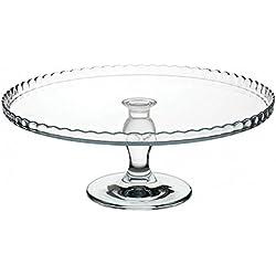 "'Pasabahce 95117""Superior""–Plato para tartas, plato para tartas, Cupcake Placa, con soporte, serie ""Patisserie, 32,2cm de diámetro"