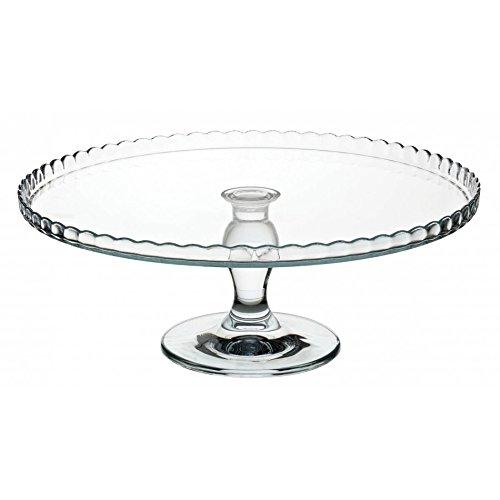"""Pasabahce 95117 """"oben"""" - Tortenplatte, Kuchenplatte, Cupcake Platte, mit Fuß, Serie """"Patisserie"""", Ø 32,2cm"""
