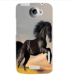 ColourCraft Lovely Horse Design Back Case Cover for HTC ONE X