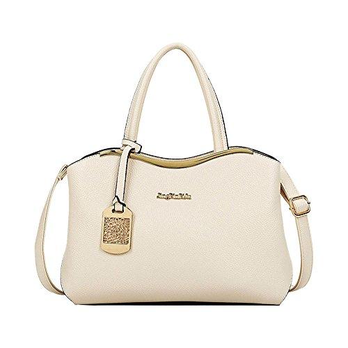 FavoMode, Borsa a mano donna rosso Red Handbag taglia unica White Handbag