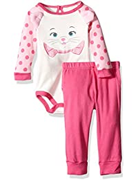 Disney Baby Girls 2-Piece Marie the Aristacat Pant Set with 3d Ears