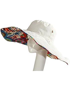Vococal - Plegable Doble Cara Utilizable Casquillo del Sombrero del Cubo de Sol / Grandes Viseras Sombrero de...