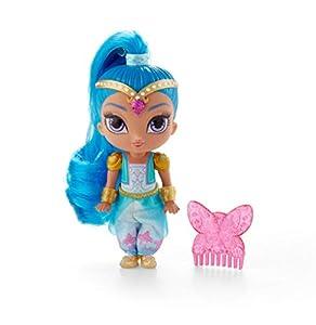 Shimmer y Shine Muñeca Shine Cielos de Zahramay con peine de accesorio (Mattel FPV44)