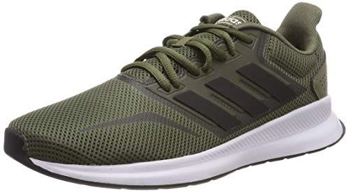 4469e68d6 adidas Men's Falcon Running Shoes, Green (Raw Khaki/Core Black/Ftwr White),  11 UK