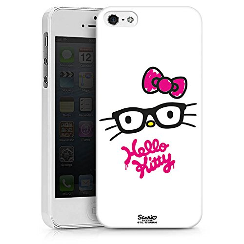 Apple iPhone X Silikon Hülle Case Schutzhülle Hello Kitty Merchandise Fanartikel Kawaii Hard Case weiß