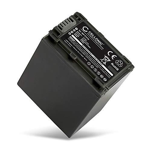 CELLONIC® Batterie Compatible avec Sony FDR-AX53 FDR-AX700 AX100 HXR-NX80 HDR-CX625 HDR-CX450 -CX900 -CX680 -CX675 HDR-PJ675 NEX-VG30 -VG10 -VG20 DCR-SR68, 2200mAh NP-FV70 -FV50 -FV100 Accu Rechange