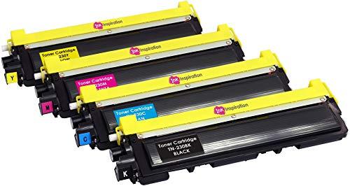 4er Set Premium Toner kompatibel für Brother TN230 DCP-9010CN HL-3040CN HL-3045CN HL-3070CW HL-3075CW MFC-9120CN MFC-9125CN MFC-9320CW MFC-9325CW | Schwarz 2.200 Seiten & Color je 1.400 Seiten - Mfc9320cw Drucker Brother