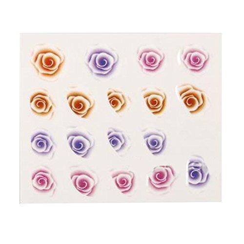 Born Pretty 1 Planche Water Decals Sticker Motif Rose Y037