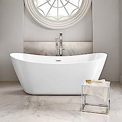 1830mm Modern Freestanding Bathtub Designer Double End Slipper Bath