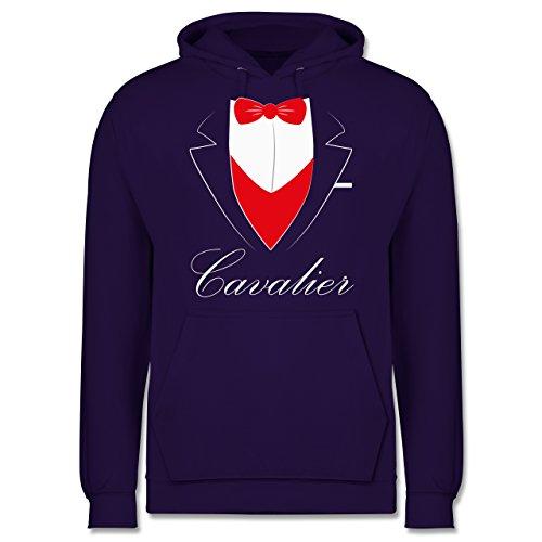 Statement Shirts - Cavalier Anzug - Männer Premium Kapuzenpullover / Hoodie Lila