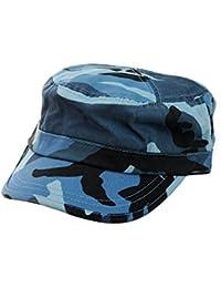 Casquette ajustable de style militaire lavée aux enzymes, à motif de camouflage. Produit offert par NYfashion101.