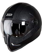 Steelbird SB-50 Adonis Zap Classic Full Face Helmet (Large 600 MM, Black with Plain Visor)