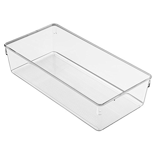 InterDesign (60530) Linus Large  Dresser Drawer Organizer, Clear