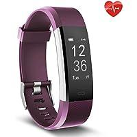 moreFit Herzfrequenz-Monitor, Slim HR Plus Wasserdicht Pulsuhren Fitness Uhr Aktivitäts-Tracker Tragbares GPS Schrittzähler Smart Armband Weihnachtsgeschenke Für Kinder Damen Männer
