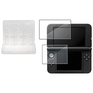 Oben & Boden LCD Folie+wei� 28 in 1 Spiel Kart Tasche f�r Nintendo 3DS XL/LL