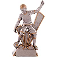 PALLART Art-Trophies TP129 Sports Trophy with Football Figure, Silver, 17 cm