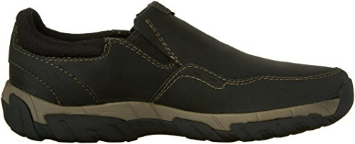 Clarks Mens Walbeck Style Shoe in Olive Black Leather
