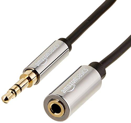 AmazonBasics Aux-Kabel, Stereo-Audiokabel, 3,5-mm-Klinkenstecker auf 3,5-mm-Klinkenbuchse, 7,6m -