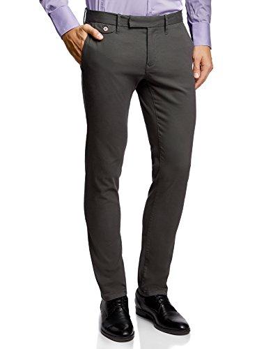 Oodji Ultra Hombre Pantalones Chinos de Algodón