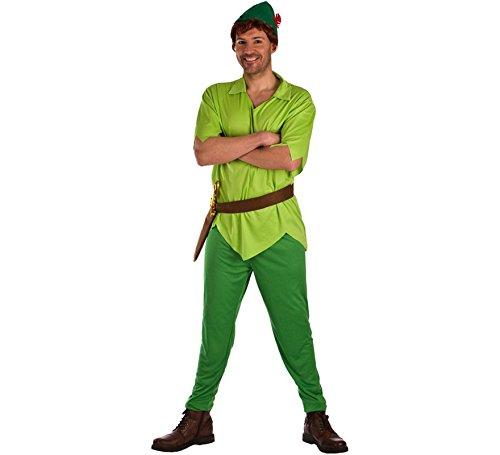 Kostüm Peter Pan - EL REY DEL CARNAVAL, SL Peter Pan Grün Kostüm für Erwachsene M/L