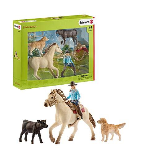 Schleich- Western Riding Set de equitación del Lejano Oeste, (42419)