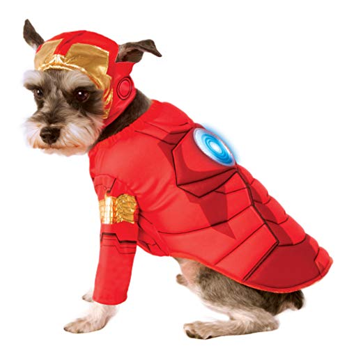 Rubies Costume Avengers Assemble Deluxe Iron Man Pet Kostüm, groß (Avengers Assemble Kostüme)