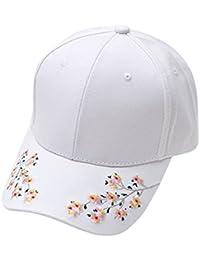 LKXHarleya Adult Plum Flower Embroidery Cotton Baseball Hat Adjustable Retro  Dad Sun Caps 2b9ddb0527ca
