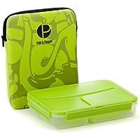 Elegante y asombrosa caja de almuerzos a Prueba de fugas- tamaño ideal para usted -100% seguro– Comida saludable-fácil de limpiar y secar, color verde