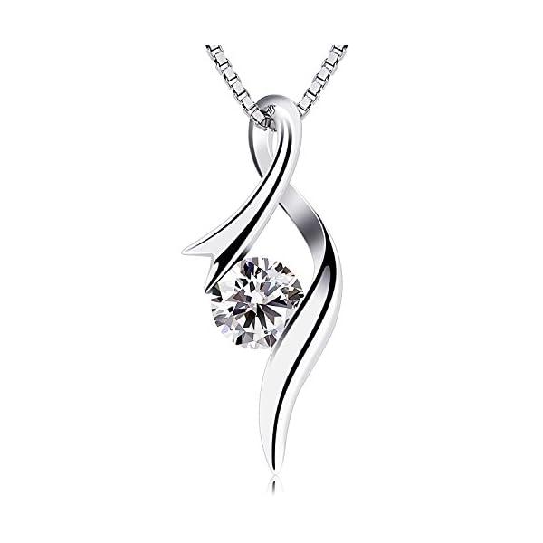 41d0de5a5 B.Catcher Necklaces 925 Sterling Silver Pendant Necklaces Cubic Zirconia ...