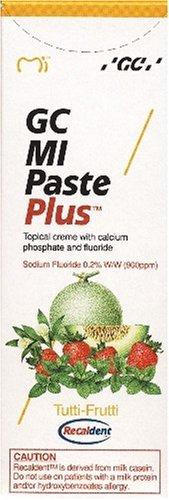 GC MI Paste Plus Tutti-Frutti Zahnschutzcreme mit Fluorid, 1er Pack (1 x 40 g)