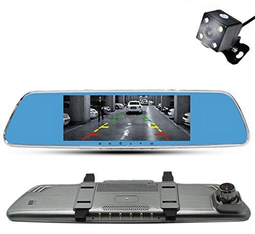 Anstar New 7.0 Inch Car Dvr Camera Rearview Mirror Digital Video Recorder With Dual Lens Registrar Camcorder Full HD 1080P Night Vision