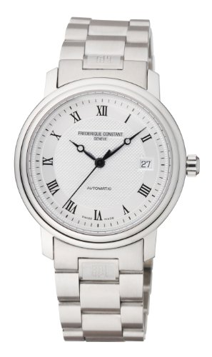 Frederique Constant Slimline FC-303MC3P6B 38mm Automatic Silver Steel Bracelet & Case Anti-Reflective Sapphire Men's Watch