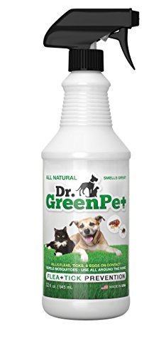 Dr.GreenPet: spray natural para pulgas y garrapatas (945 ml).