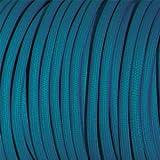 Fil électrique tissu bleu canard - câble textile - 2x0.75mm2