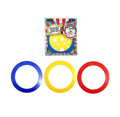 3 X Colourful Circus Juggler Juggling Rings