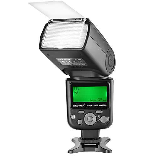 Neewer NW760 TTL Blitz Speedlite mit LCD Anzeige für Canon 7D Mark II 5D Mark II III IV III IV 1300D 1200D 1100D 750D 700D 650D 600D 550D 500D 100D 80D...