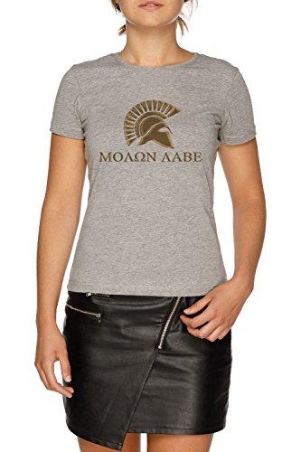 Molon Labe-Spartan Warrior Damen Grau T-Shirt Größe M | Women's Grey T-Shirt Size M (300 Krieg Spartan)