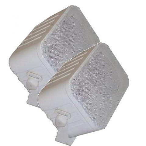 XTC LSM1-WH 3-Wege Stereo Kompakt Lautsprecher Weiss Paar (Quadral Boxen)